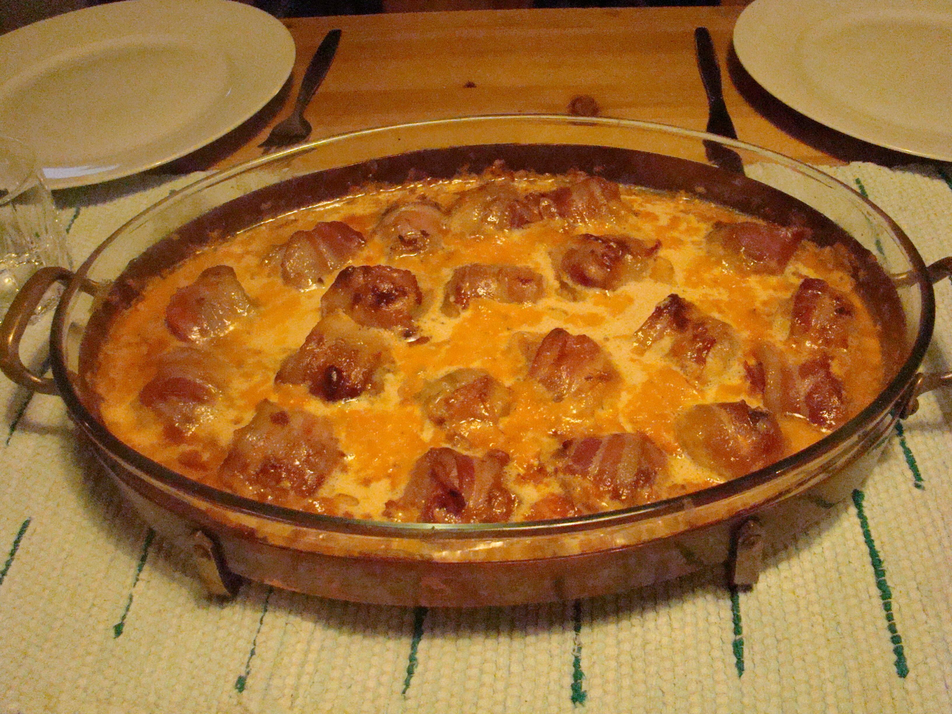 bacon lindade köttbullar