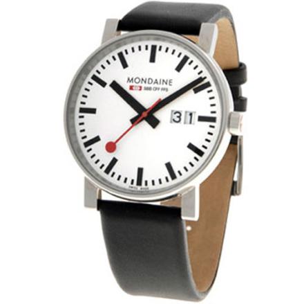 Mondaine Evo Klocka / Armbandsur Herr 40mm Big Date Big Size Svart