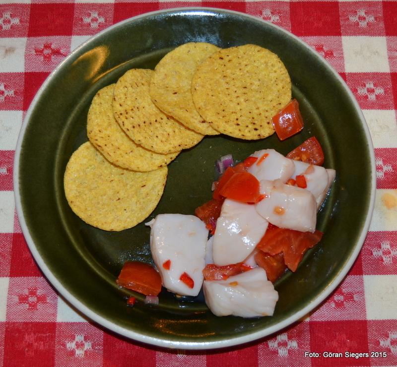 Ceviche på pilgrimsmusslor