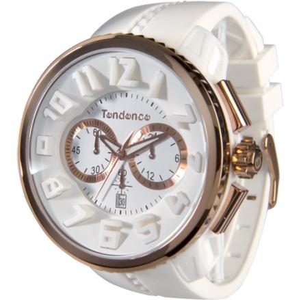 Tendence GULLIVER Round Klocka / Armbandsur Herr Kronograf Vit/Roséguld