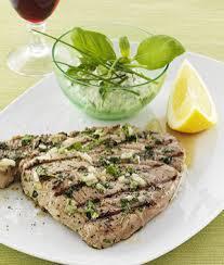 grillad svärdfisk