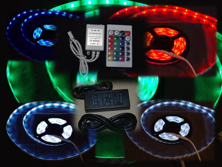 LED list paket RGB 30 LED IP20 välj styrenhet