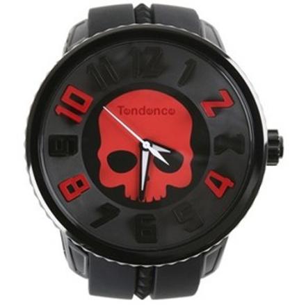 Tendence GULLIVER Round Skull Klocka / Armbandsur Svart/Röd