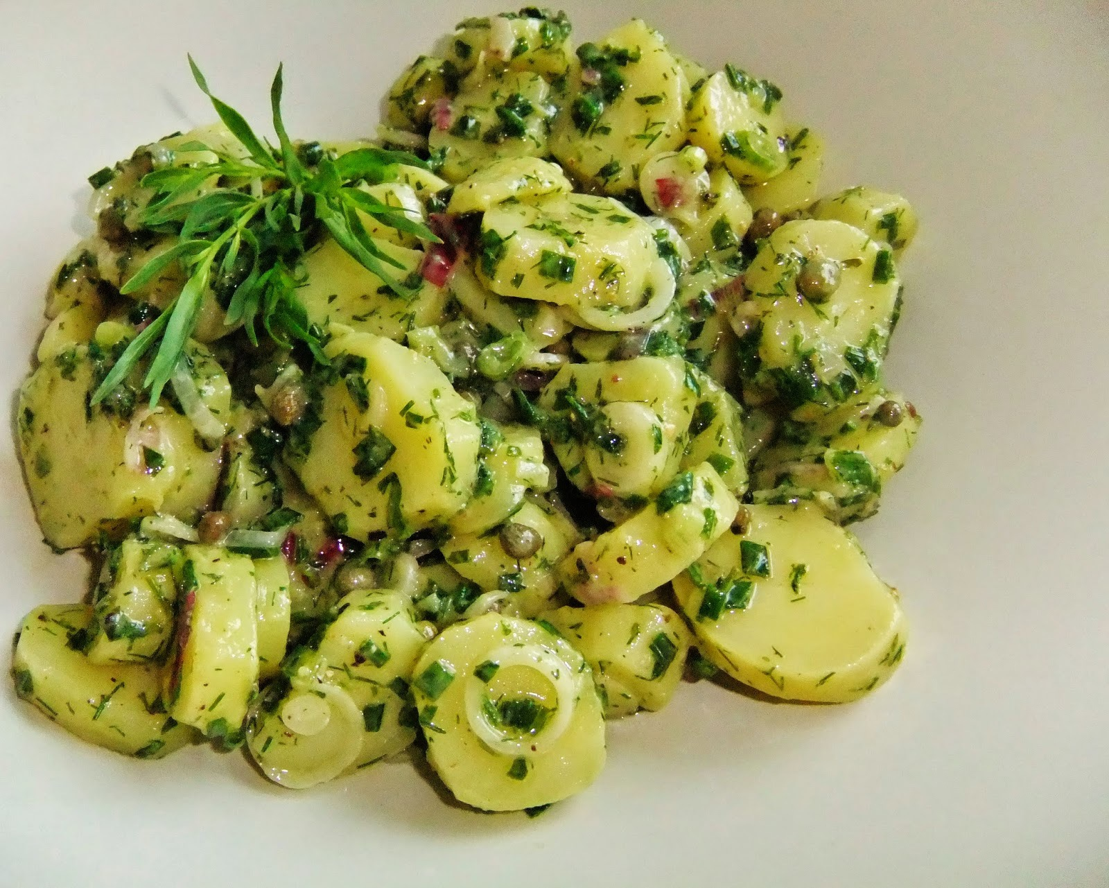 Kryddgrön potatissallad