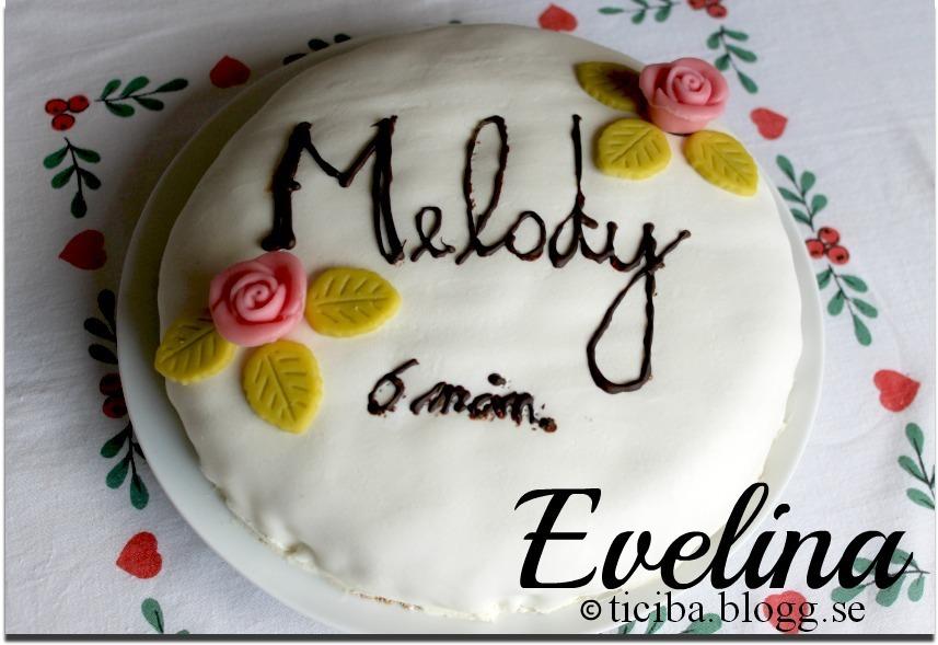 Melodys 6 månaders-tårta