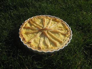ananaspaj utan ägg och creme fraiche
