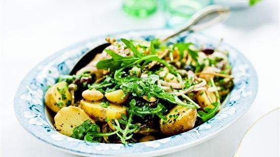 Potatissallad med bönor