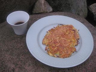Japansk grönsaksomelett med risvinssås