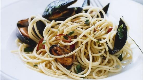 Spaghetti med b..
