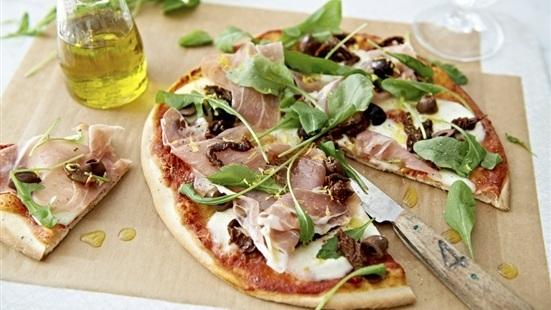 Pizza med parma..