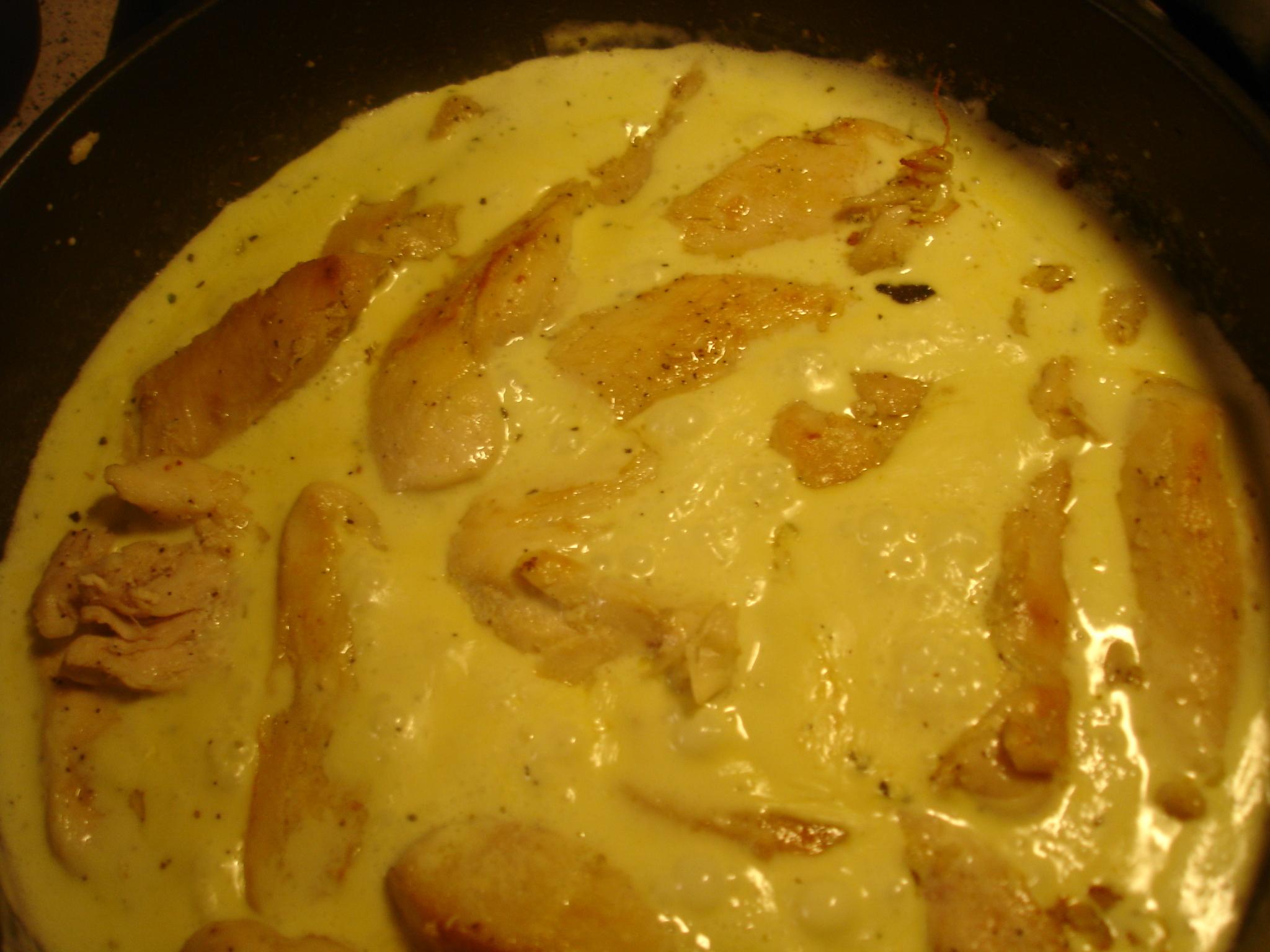 kyckling grädde vitlök oregano balsamvinäger