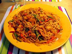 kinesisk kyckling med blandade grönsaker