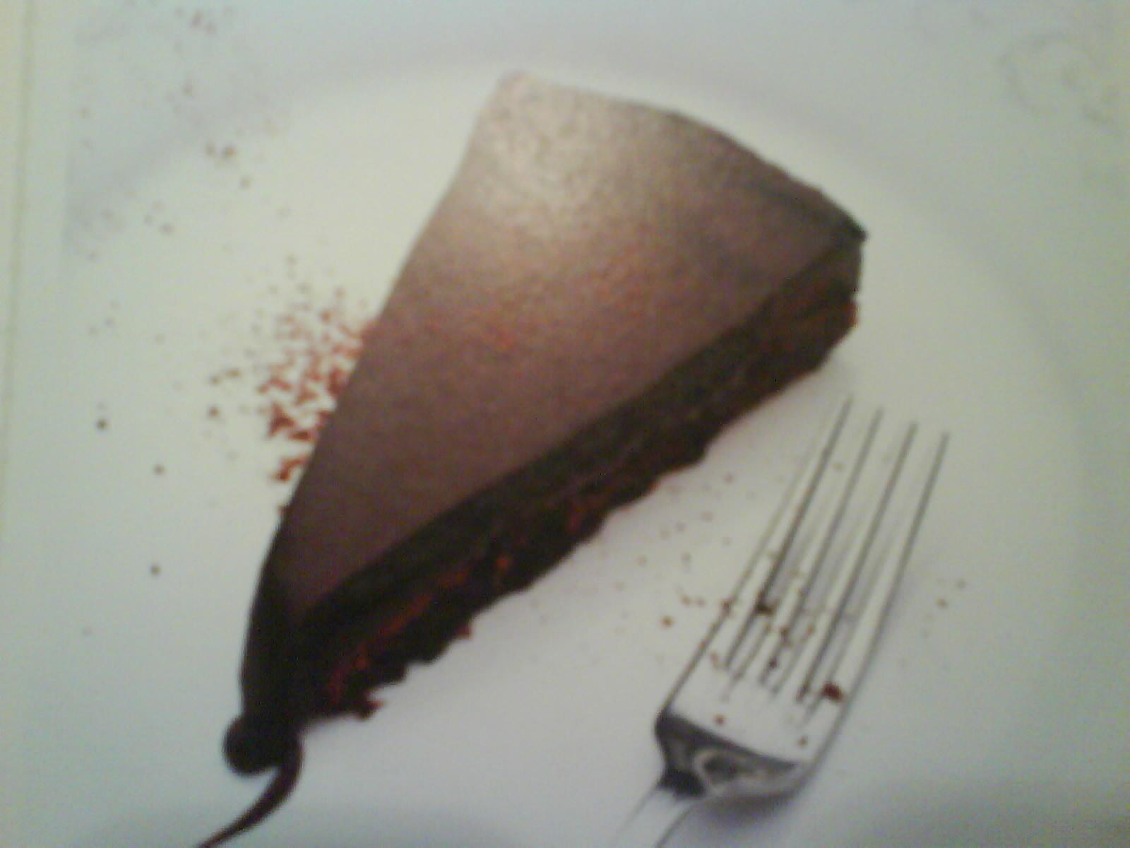 kladdkaka med ljus choklad