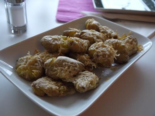 kraschad potatis med parmesan