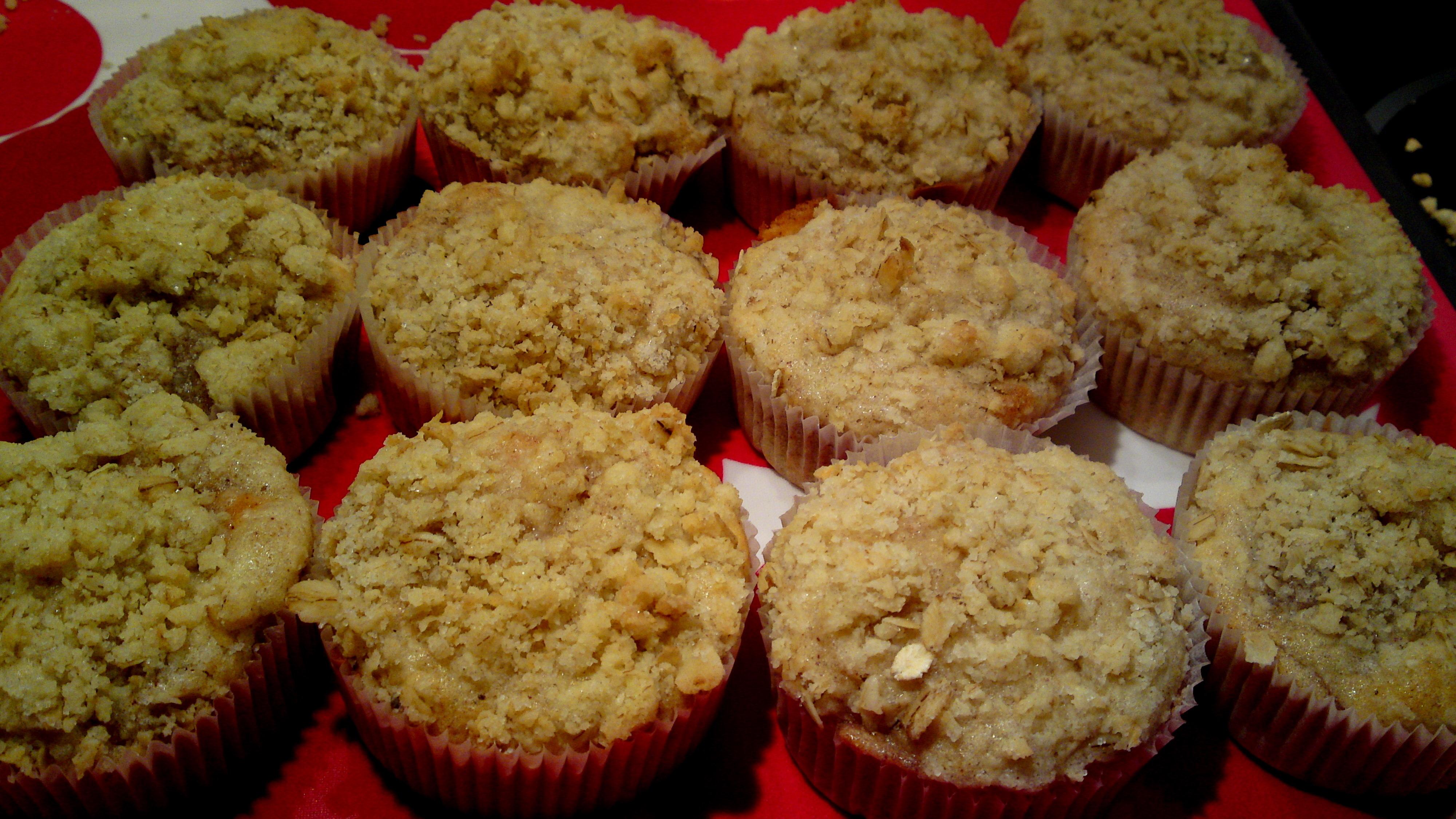 äppelmuffins med havregryn