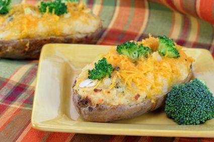 fyllning bakad potatis till kött