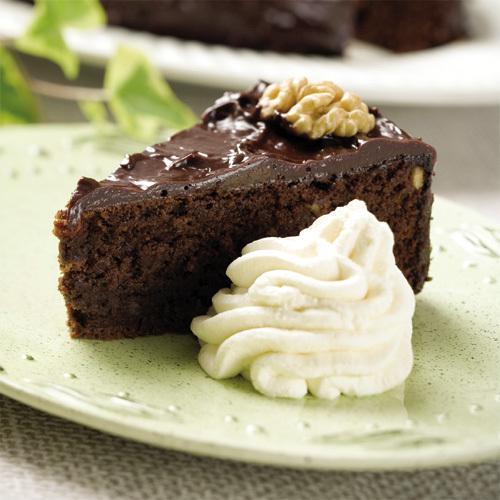 chokladtårta med chokladkräm