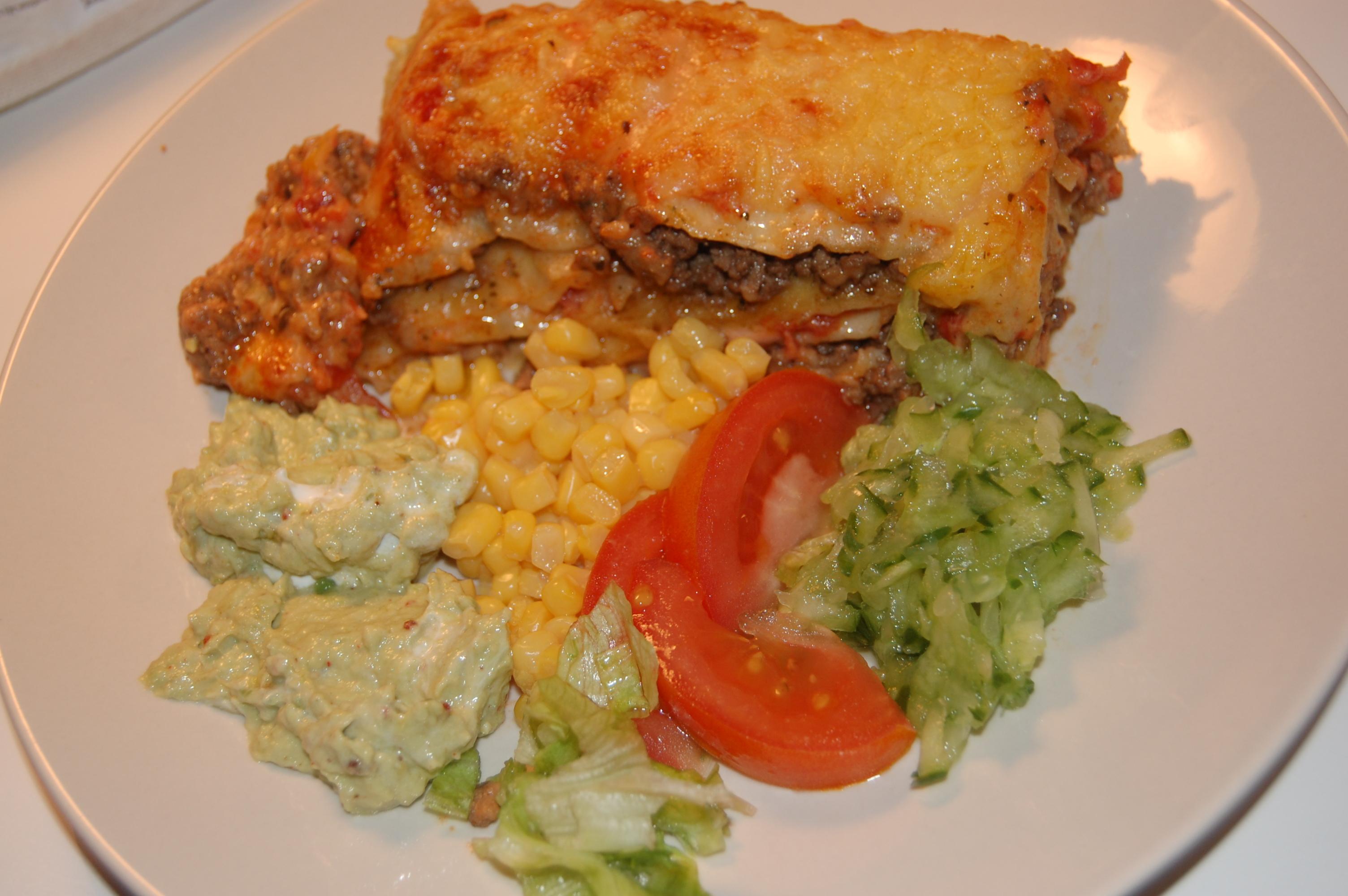 tortilla lasagne köttfärs