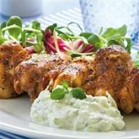 kycklingspett med yoghurt marinad