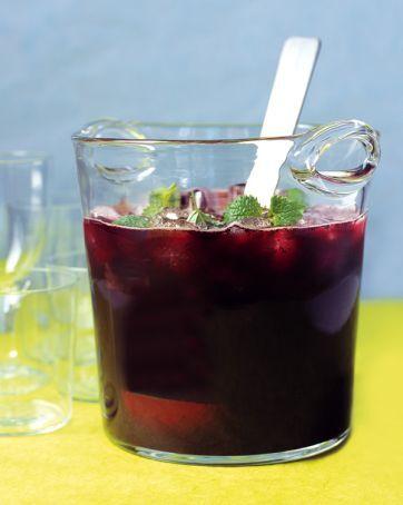 vitt vin bål med blåbär