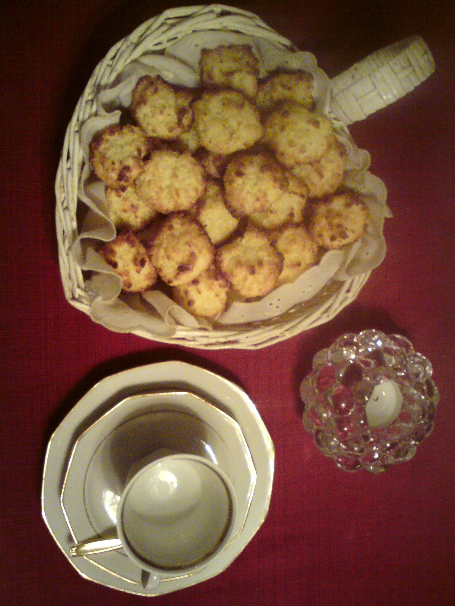 kokoskakor med vaniljkräm