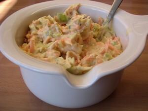 vitkål morot sallad med majonäs