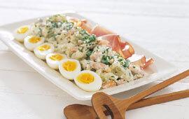 ägghalvor med skinka