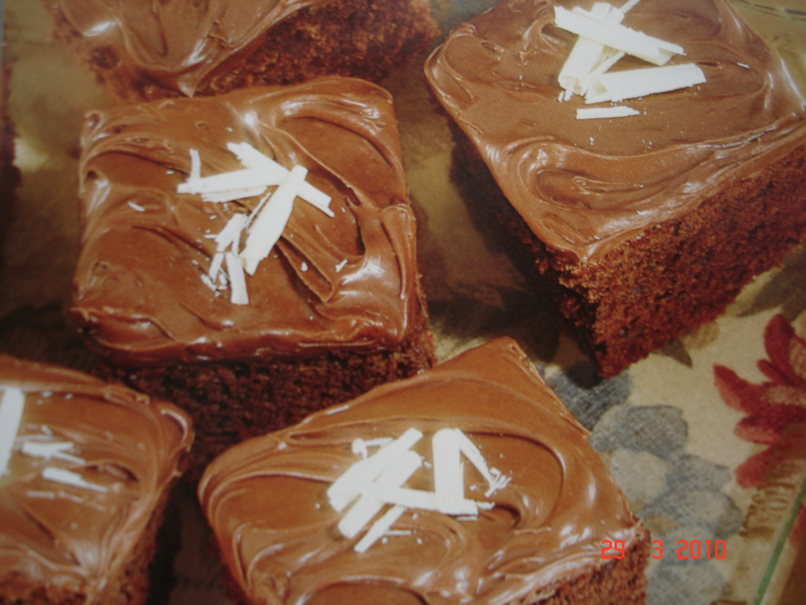 chokladkaka med blockchoklad