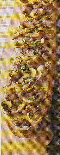 vitlöksstekta champinjoner med persilja