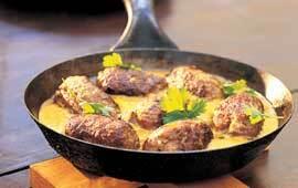 indiska köttbullar i kryddig sås