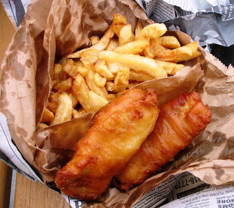 fish and chips rödspätta