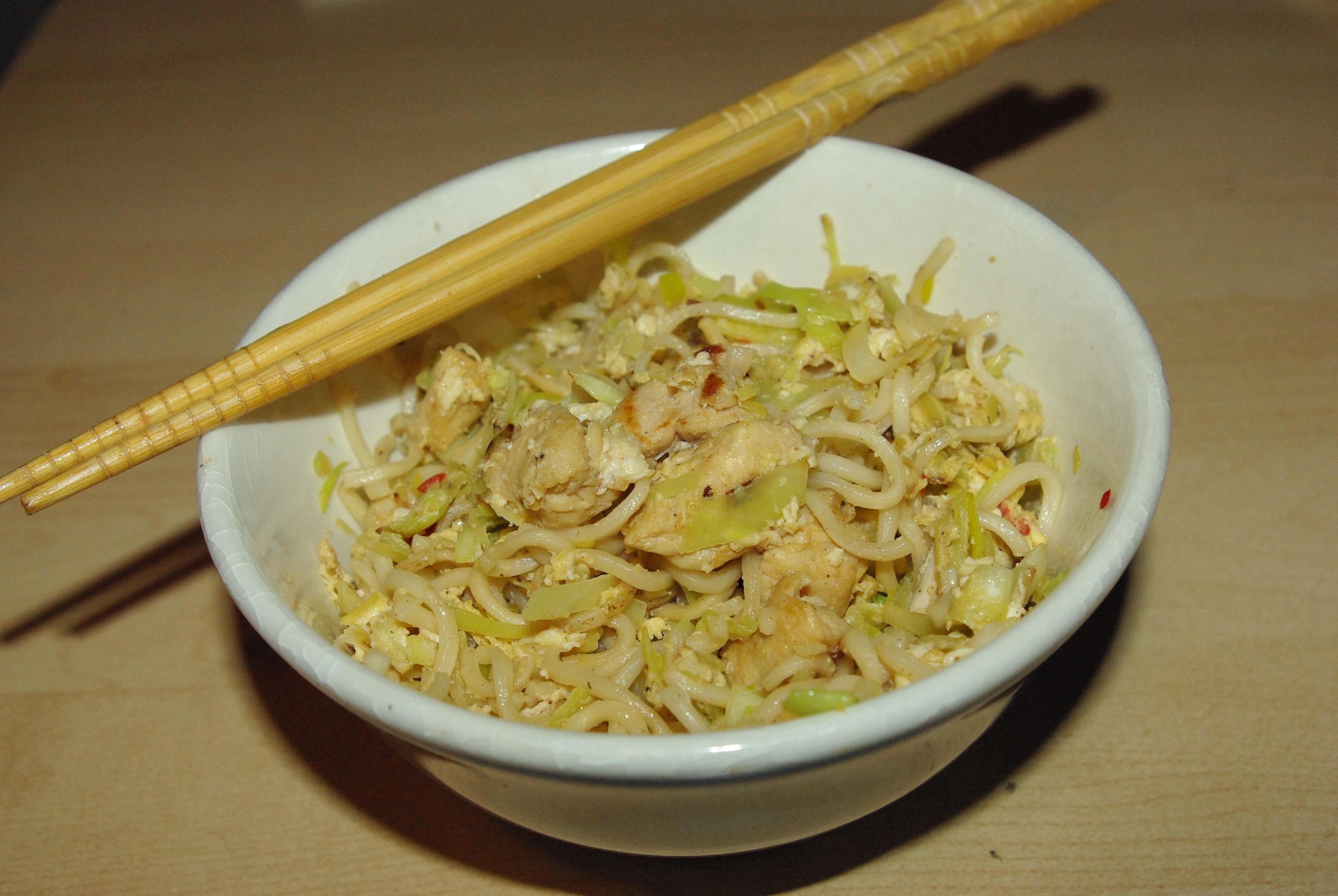 asiatisk mat med sesamolja
