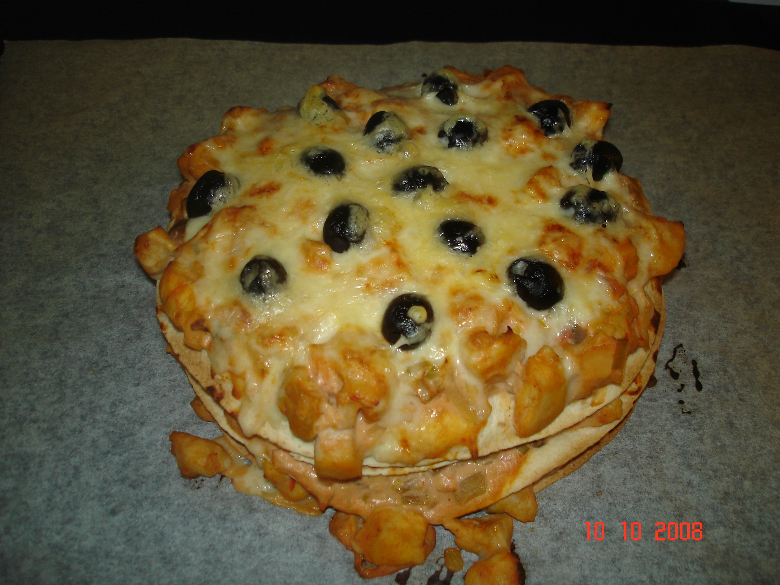 tortillatårta i ugn
