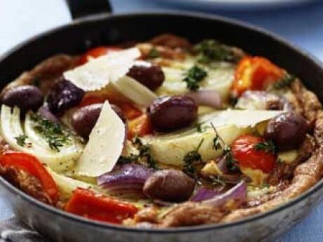 grönsaks omelett i ugn