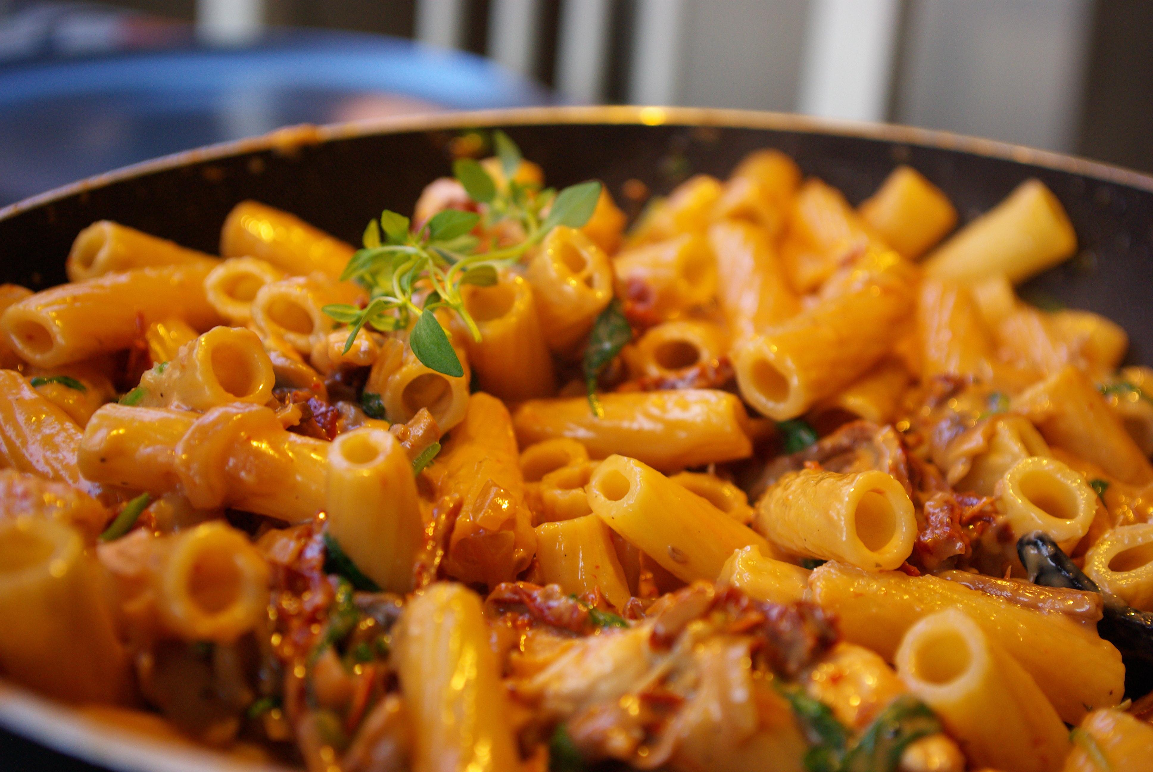 kyckling spenat parmesan vitlök grädde