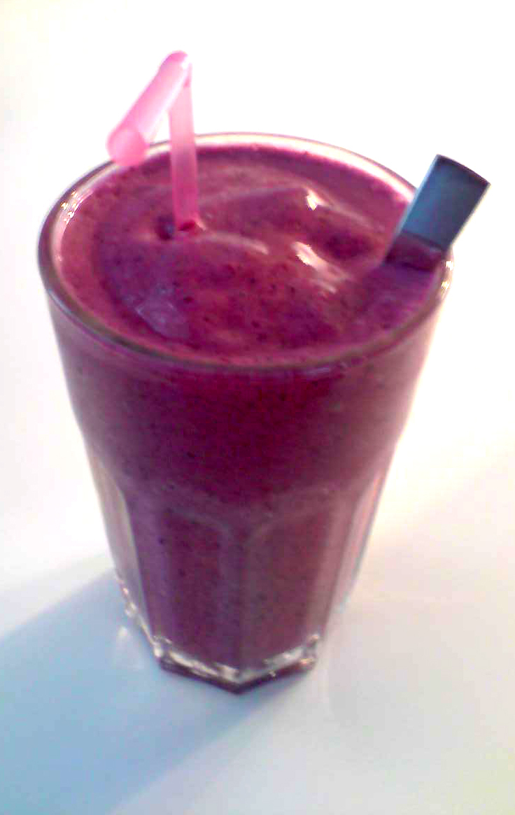 smoothie med glass