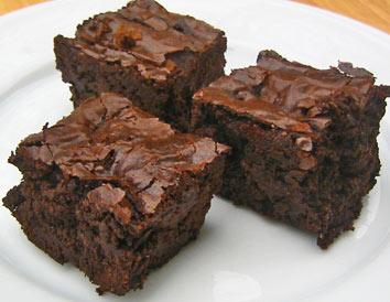 saftig brownie i långpanna