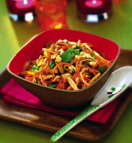 asiatisk dressing wok