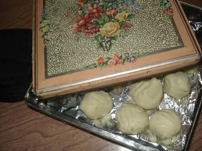 vit choklad lime tryffel bollar