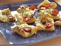 smördeg mozzarella och tomat