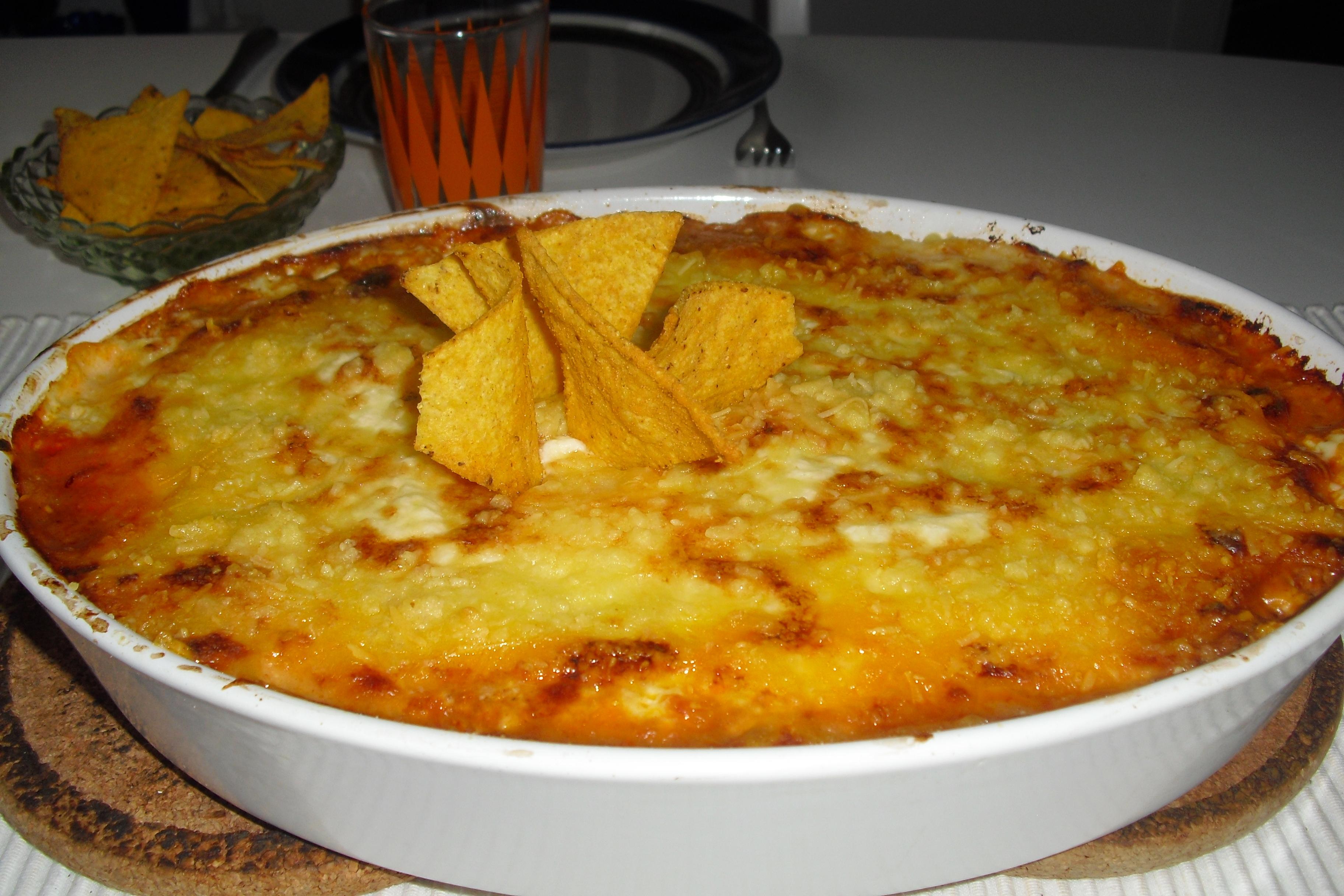 tacogratäng nachos i botten
