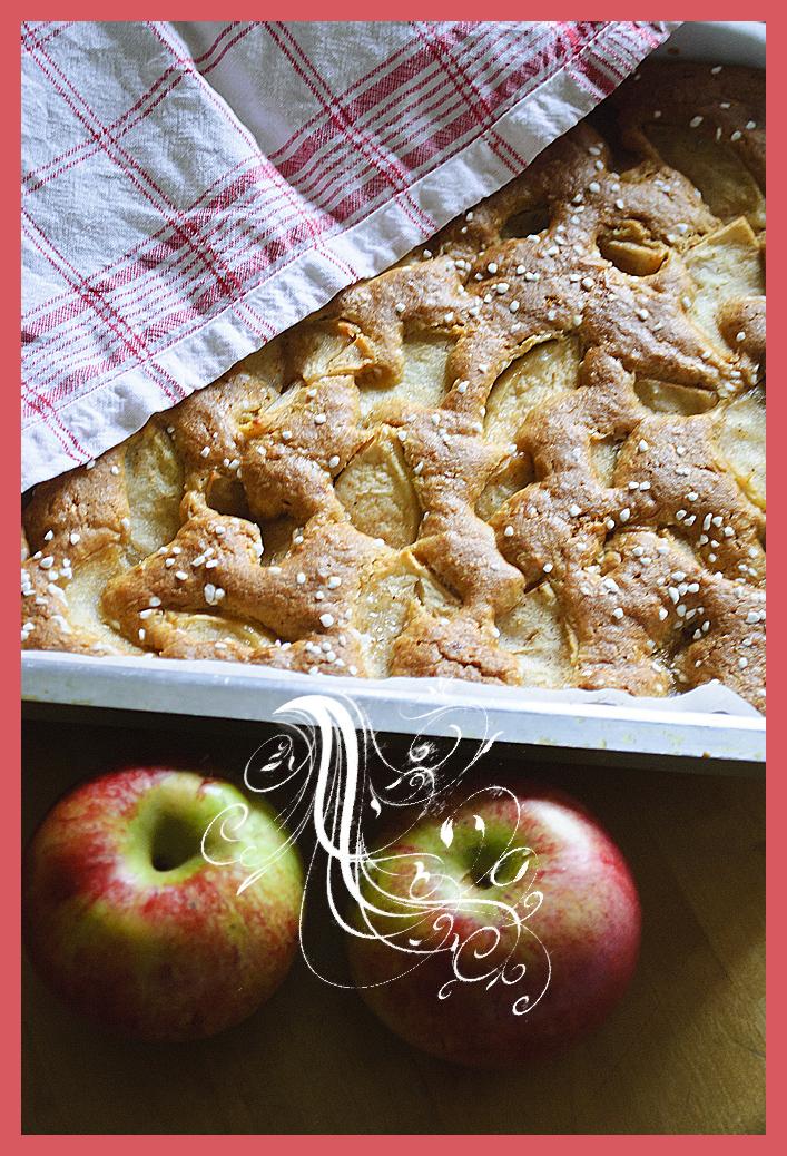 äppelkaka i stekpanna