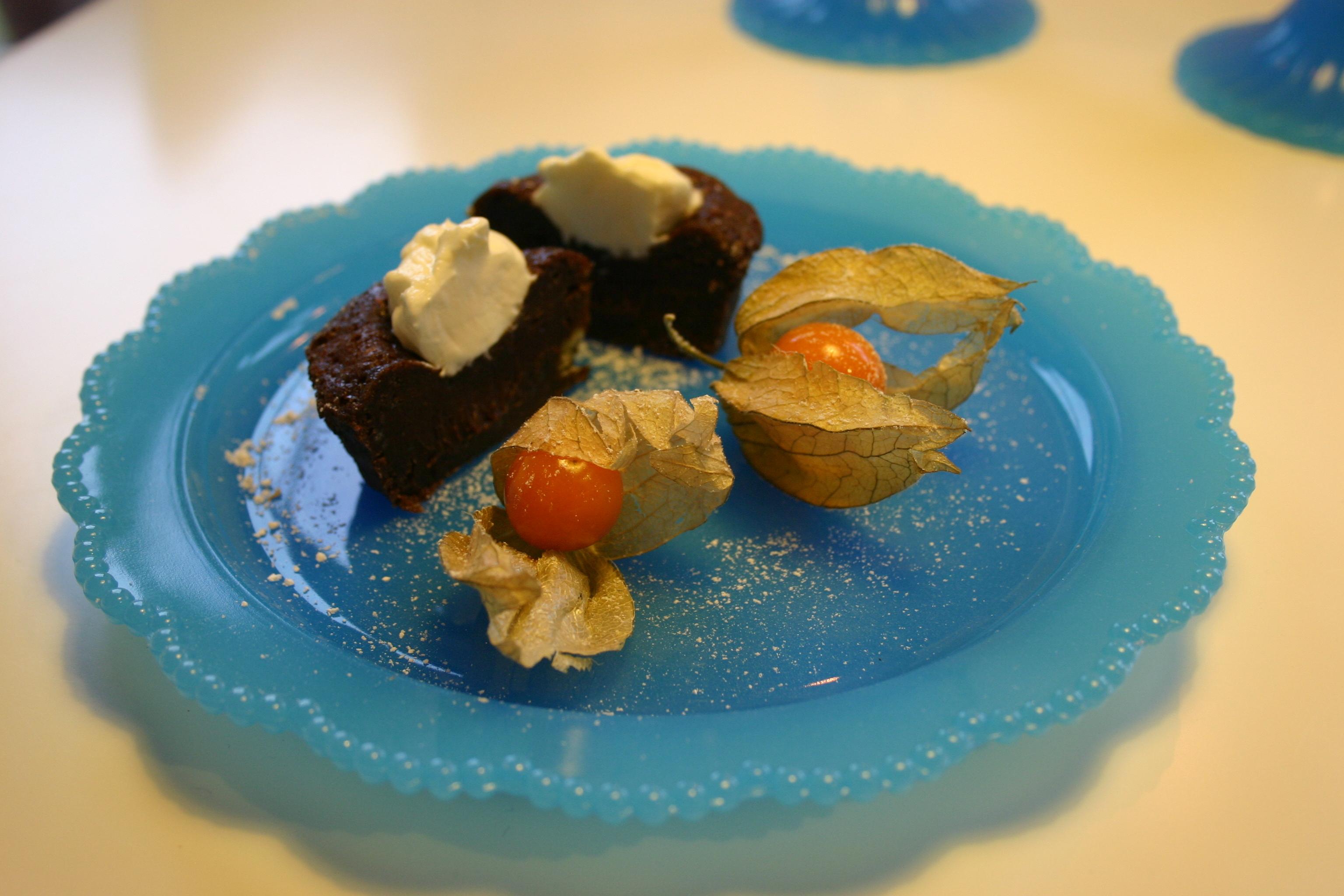 kladdiga chokladmuffins utan smör