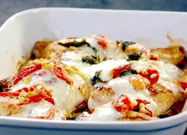 mozzarella gratinerad kyckling