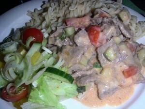 kebabgryta med pasta