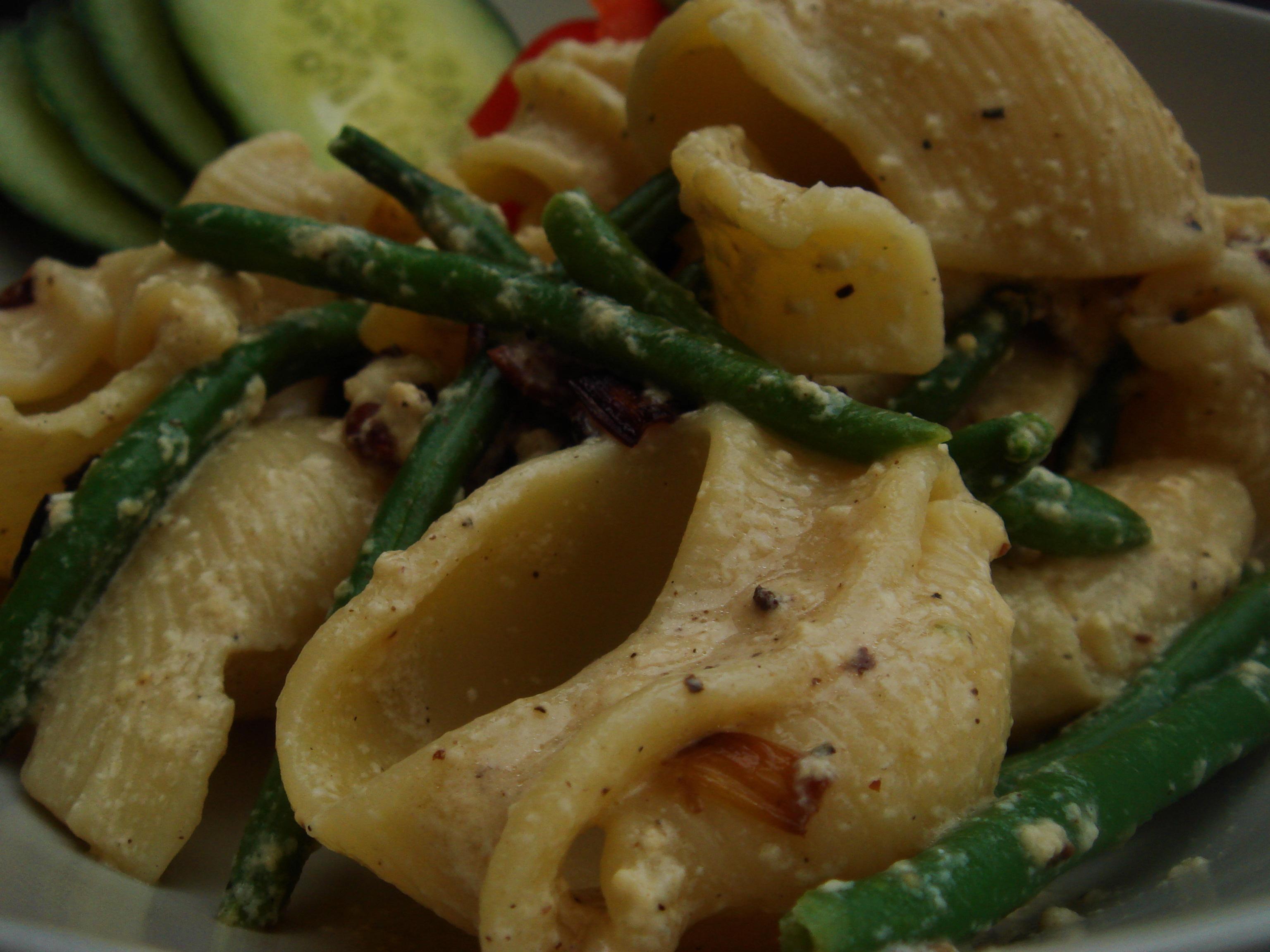 enkel pasta carbonara utan lök