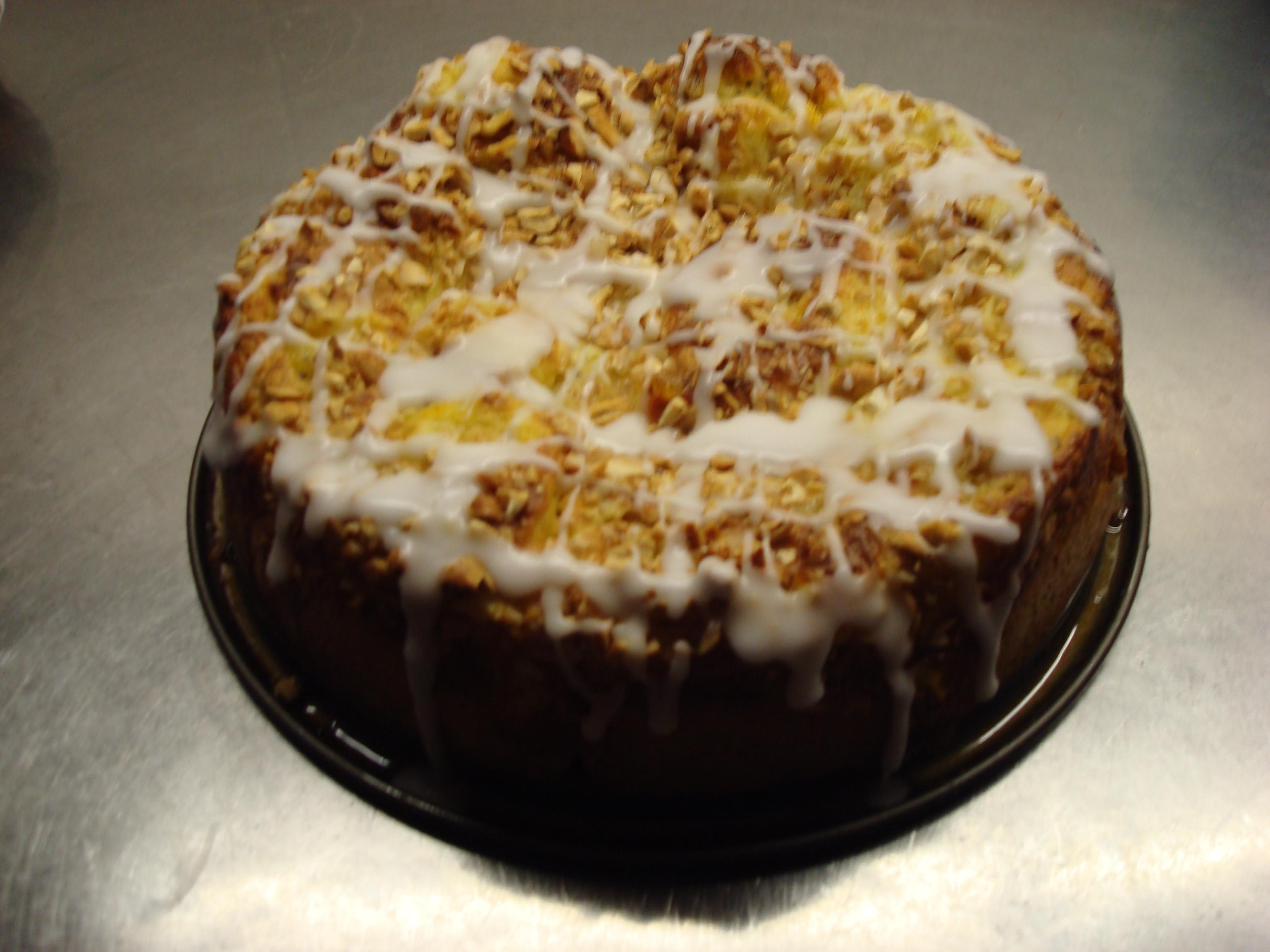 saffrans butterkaka med vaniljkräm