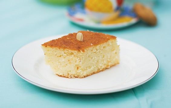 grekisk kaka med mannagryn