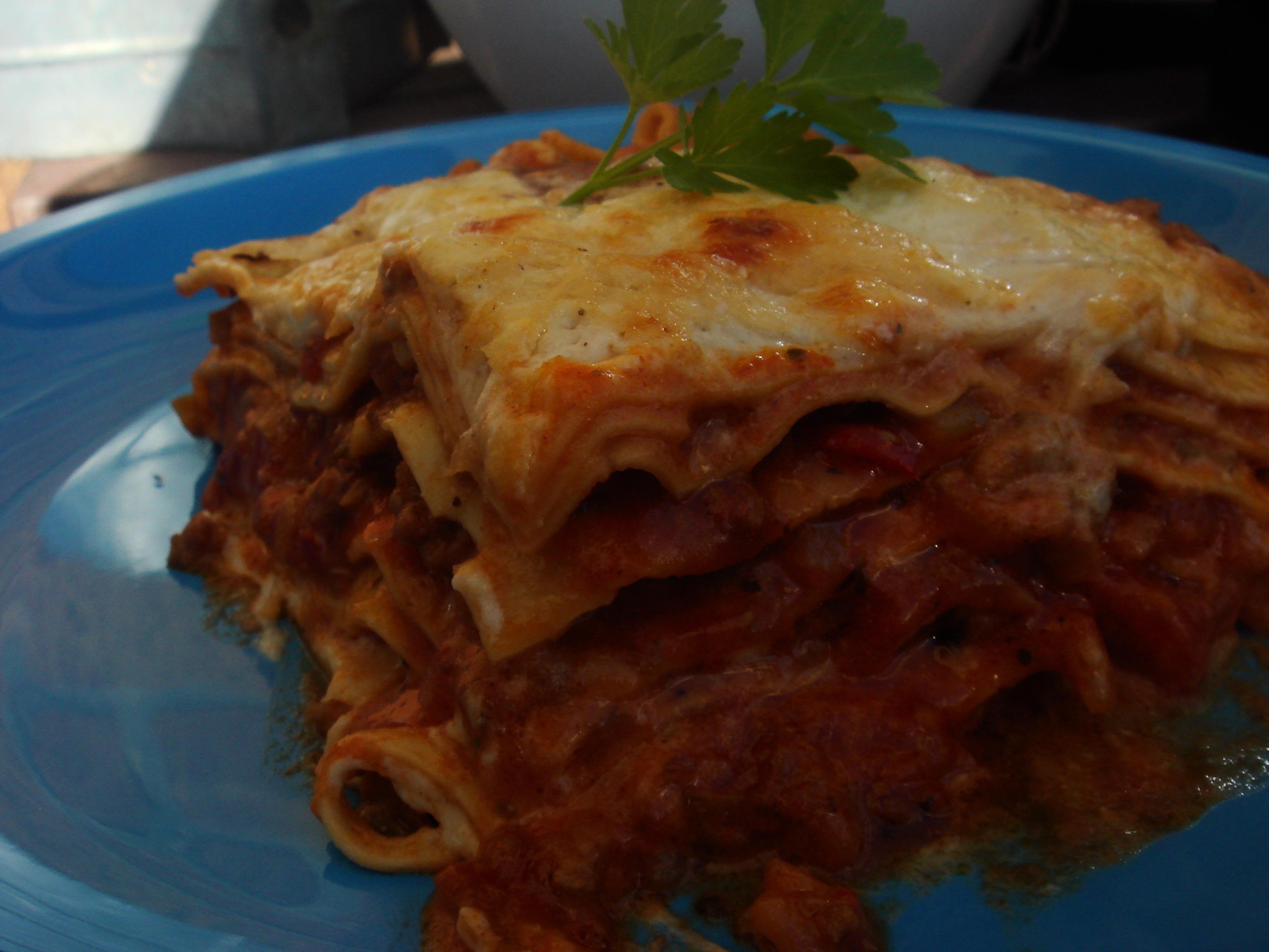 annas vegetarisk lasagne spenat ricotta tomatsås