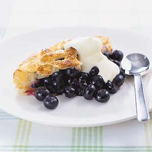 blåbärspaj med färdig smördeg